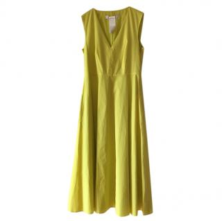 Max Mara Lime Yellow A-Line Dress