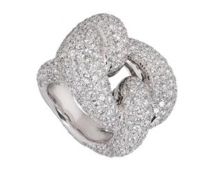 Bespoke White Gold Diamond Knot Ring