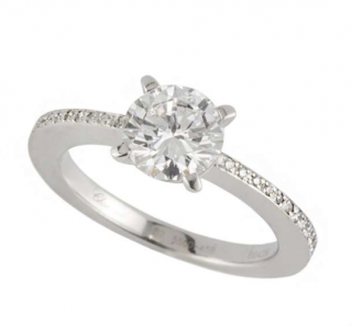 Chopard Gold Diamond Solitaire Ring