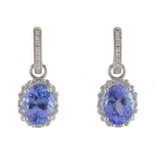 Bespoke Diamond & Tanzanite Drop Earrings