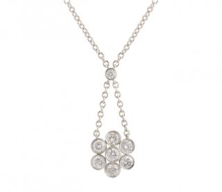 Tiffany & Co. Diamond Floral Pendant Necklace