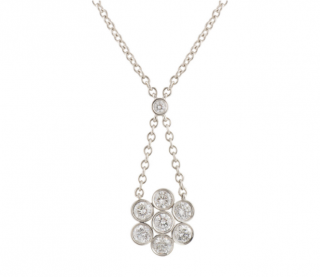 Tiffany & Co. Diamond Floral Pendant Necklace