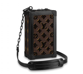 Louis Vuitton Monogram Embroidered Vertical Soft Trunk Bag