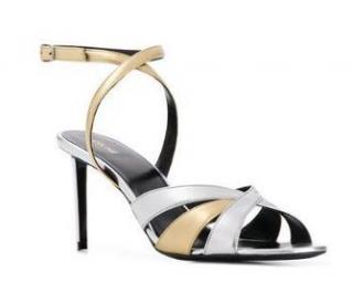 Celine Silver & Gold Sandals