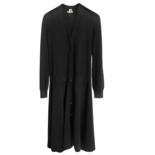 Hermes Black Wool Longline Cardigan