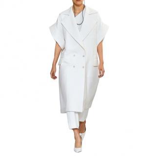 Max Mara Micio Short-Sleeve Cotton-Twill Coat