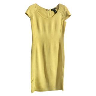 Ralph Lauren Yellow Fitted Stretch Dress