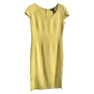 Ralph Lauren Yellow Fitted Stretch Dress