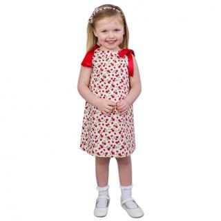 Cairenn foy Strawberry Print Cotton Dress