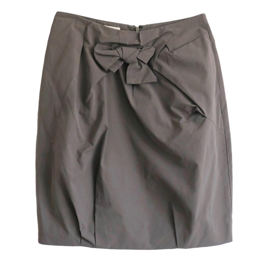 Marni Taupe Bow Detail Skirt