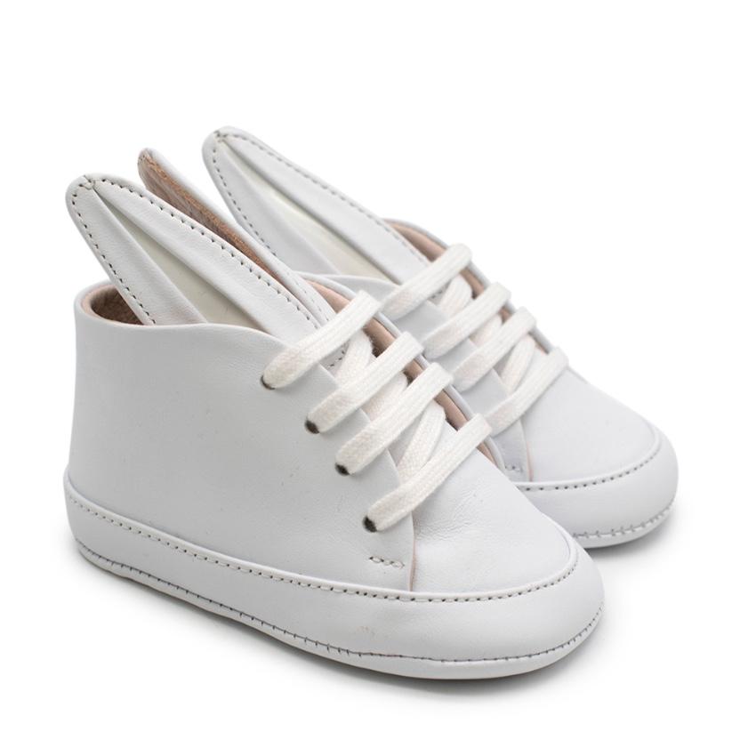 Minna Parikka Baby Bunny all White Baby Sneakers