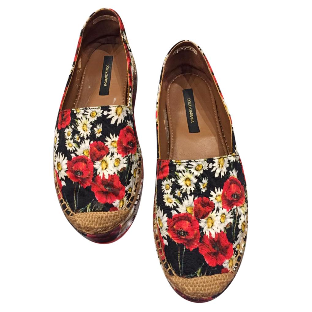 Dolce & Gabbana Floral print Canvas Espadriles