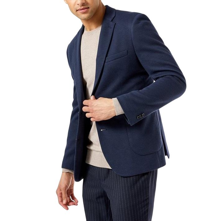 Michael Kors Woven Navy Tailored Jacket