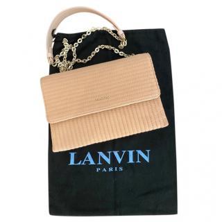 Lanvin Quilted Pale Peach Shoulder Bag