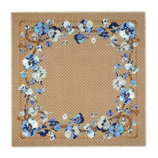 Gucci Monogram Blooms Wool Scarf