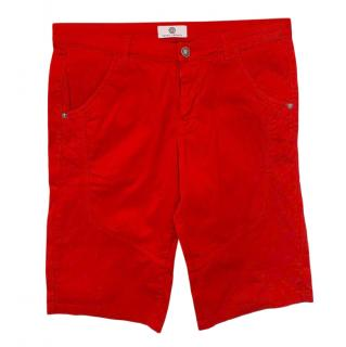 Young Versace Red Tailored Shorts