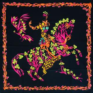 Hermes Cheval Fleuri Limited Edition Silk Scarf 90