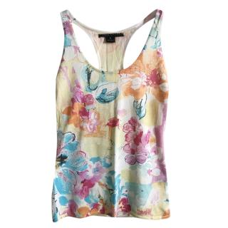 Ralph Lauren Silk Floral Print Sleeveless Top