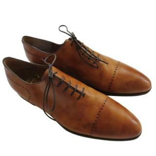 Barrett Tan Hand Made Leather Oxfords