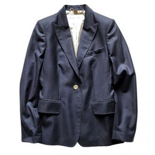 Stella McCartney Navy Wool Tailored Jacket
