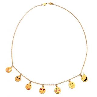 Alison Lou 14kt Yellow Gold Emoticon Necklace