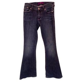Victoria Beckham Crystal Star Pocket Jeans