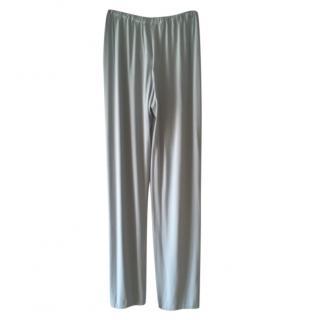 Max Mara Grey Jersey Drawstring Trousers