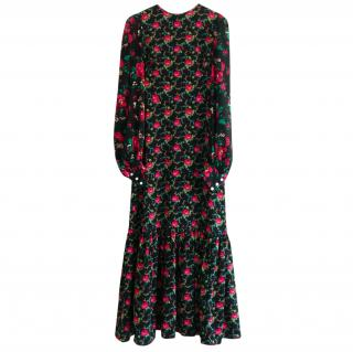 The Vampire's Wife Black Floral Print Gypsy Maxi Dress