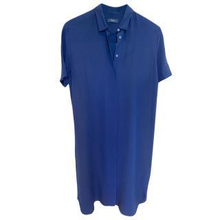 Paul Smith Silk Navy Shirt Dress