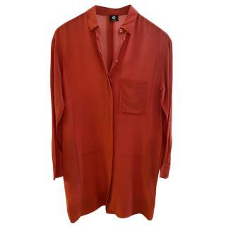 PS Paul Smith Red Silk Shirt Dress