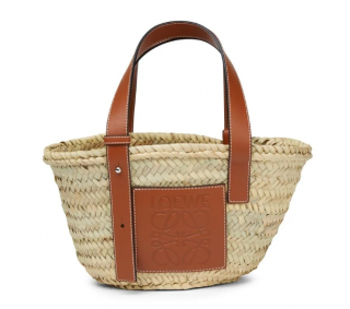 Loewe Straw & Leather Basket Bag