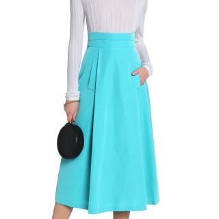Oscar de la Renta cotton-blend midi skirt