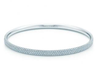 Tiffany & Co. Three Row Diamond Bangle