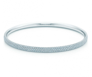 Tiffany & Co. Three Row Diamond Bangle