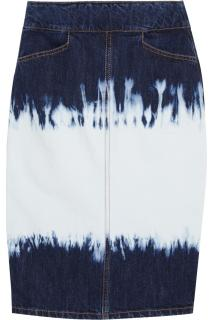 Isabel Marant Perrine Tie-Dyed Denim Skirt
