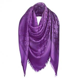 Louis Vuitton Monogram Purple Shawl
