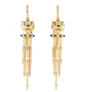 Cartier Yellow Gold Drop Earrings