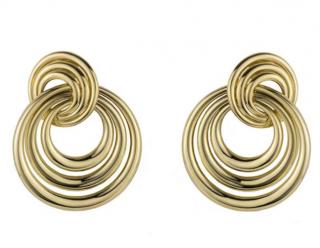 Cartier 18k Yellow Gold Circular Earrings