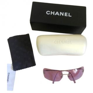 Chanel vintage violet frameless sunglasses
