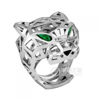 Cartier Panther De Cartier Tsavorite/White Gold Panthere Ring