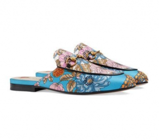 Gucci Princetown flowers & tassels print slippers