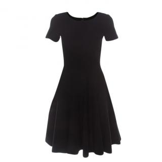 Alaia Black Knit Skater Dress