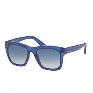 Valentino Blue Square Sunglasses