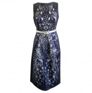 Matthew Williamson Blue Floral Print Dress