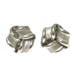 Bespoke White Gold Friendship Knot Earrings