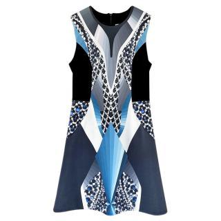 Peter Pilotto 3D Patchwork Printed Sleevless Dress
