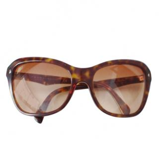 Prada Brown Oversize Tortoiseshell Sunglasses