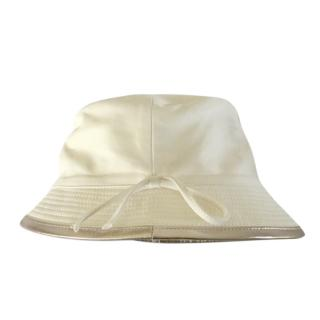 Hermes Cream Lightweight Leather Hat