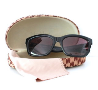 Max Mara Black Square Sunglasses