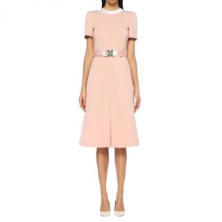 Fendi Pink Fitted Dress with FF Collar